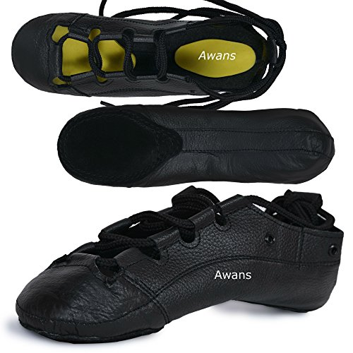 Awans  Irish Dancing Pumps, Mädchen Tanzschuhe Schwarz schwarz UK 12 Klein KinderS
