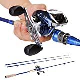 Sougayilang 2pieces Baitcasting Fishing Rod with Fishing Reel Combos Left/right (Right) For Sale