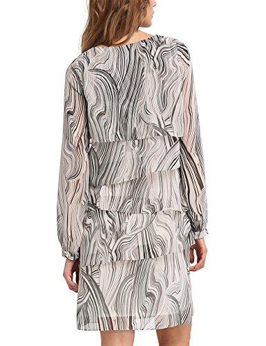 Apart multicolor Vestido Multicolor Para Taupe Fashion taupe Mujer multicolor YrgFxqYwv