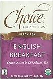 Choice Organic, English Breakfast Tea, 16 ct