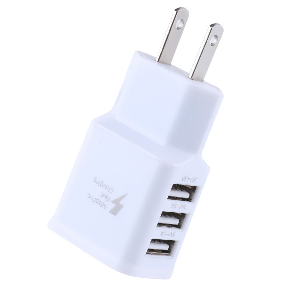 Botrong Travel 5V 2A 3Ports USB US Wall AC Adptive Fast Charger Adapter for Samsung