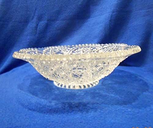 """EAPG Hobstar and Circles Crystal Bowl 10"""" for sale  Delivered anywhere in USA"""