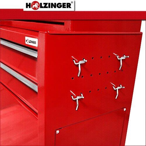 Holzinger HWW2009 - Carro de almacenaje para taller, color rojo: Amazon.es: Industria, empresas y ciencia