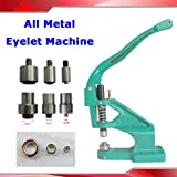 All Metal Manual Grommet Press Machine+3 Size Die Mould+1100 Eyelet Banner