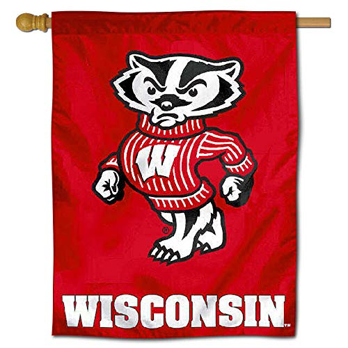 College Flags and Banners Co. University of Wisconsin Badgers House Flag - Banner House University Flag
