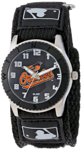 (Game Time Men's 'Rookie' Quartz Metal and Nylon Casual Watch, Color:Black (Model: MLB-ROB-BAL))