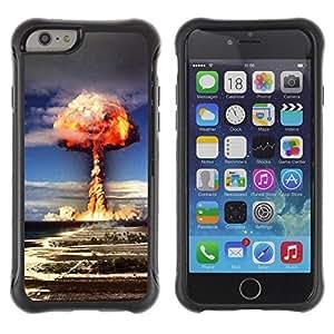 Suave TPU GEL Carcasa Funda Silicona Blando Estuche Caso de protección (para) Apple Iphone 6 PLUS 5.5 / CECELL Phone case / / Explosion Powerful Atomic Bomb /