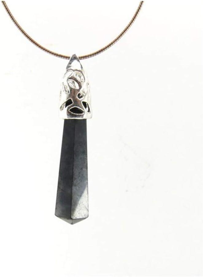 Colgante de Shungit con Filigrana - Baño de Plata Minerales y Cristales, Belleza energética, Meditacion, Amuletos Espirituales