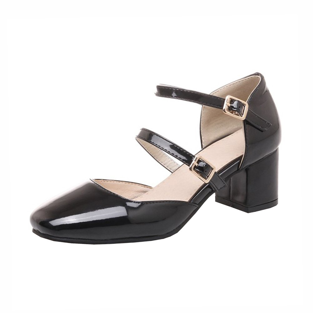Agodor - Con Cinturino alla Caviglia Donna, Nero (Black), 35 EU  -