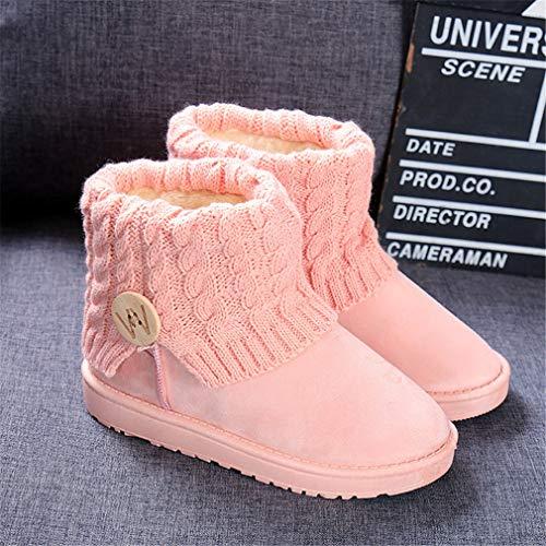 Antideslizantes Zapatos La A Nieve Botas Hibote eu40 Del Alto Tejido Invierno Eu36 Piel Impermeable Mujer Para 2 De Calientes Prueba Lana Viento Punto qOwgZqva