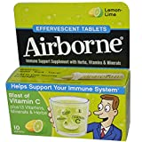 Airborne Immune Support Supplement Tablets Lemon-Lime - 10 CT (Pack of 6)