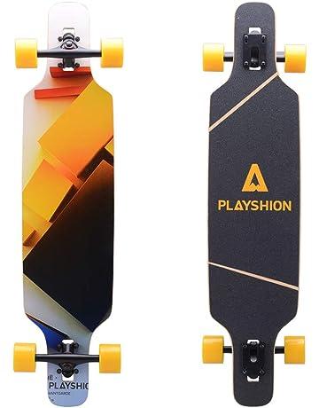 0c3f846be2 Playshion 39 Inch Drop Through Freestyle Longboard Skateboard Cruiser