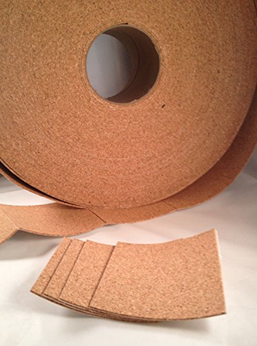 24 Self Adhesive Cork Backing for Tile Coasters 3.5
