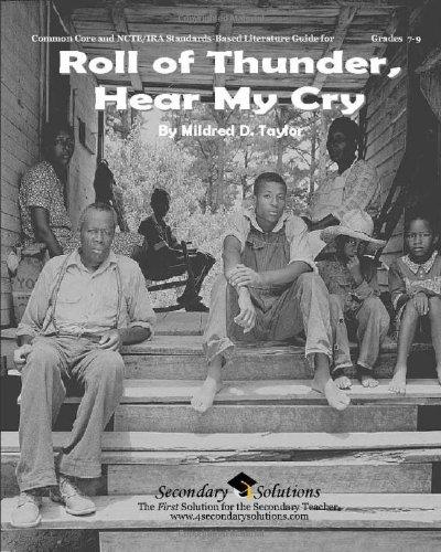 Roll of Thunder, Hear My Cry Teacher Guide - Teaching Unit for Roll Of Thunder, Hear My Cry