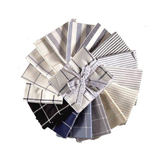 Essex Yarn Dyed Classic Wovens 19 Fat Quarters Robert Kaufman Fabrics ()