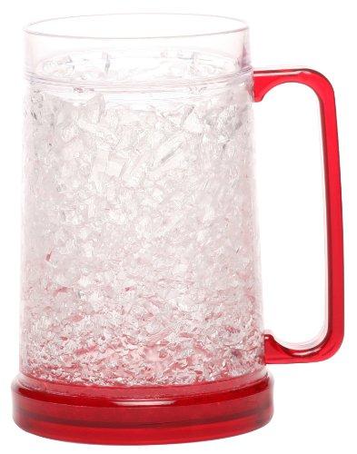 Decodyne™ Beer Freezer Mug - Double Wall -16oz. Capacity (Red)