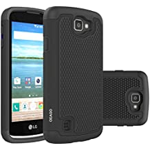 OEAGO LG Optimus Zone 3 Case, LG K4 LTE Case, LG Spree Case Cover - Shock-Absorption Dual Layer Defender Protective Case Cover For LG Optimus Zone 3 / LG K4 LTE / LG Spree / LG Rebel LTE - Black