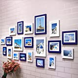 Photo wall, wooden frame wall, living room dining room bedroom photo wall, office shop decoration photo wall frame ( Color : 2# )