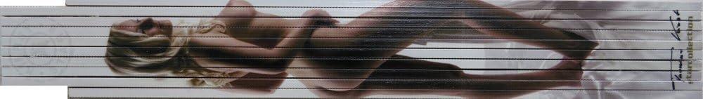 05 Starcollection Kierst Nr 2m-Zollstock farbig bedruckt mit Erotikmotiv