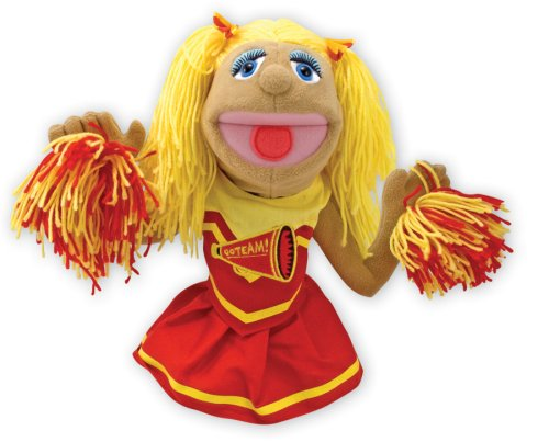 Cheerleader Puppet (Melissa & Doug Cheerleader Puppet With Detachable Wooden Rod for Animated)