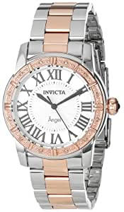 Invicta Women's 14377 Angel Silver Dial Diamond-Accented Two-Tone Stainless Steel Watch