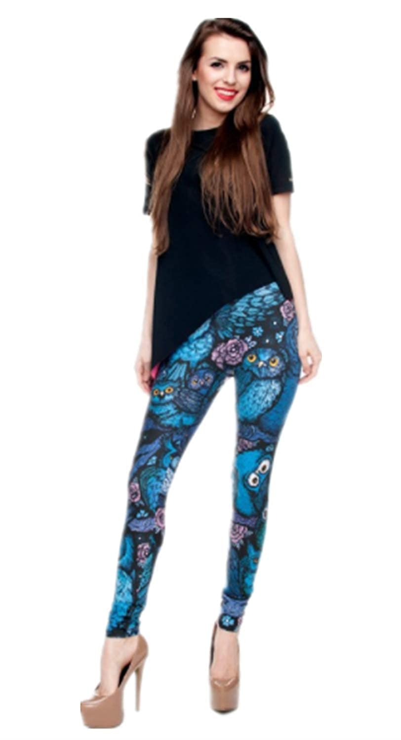 Tamskyt Leggings da Donna con Stampa Digitale a Unicorno