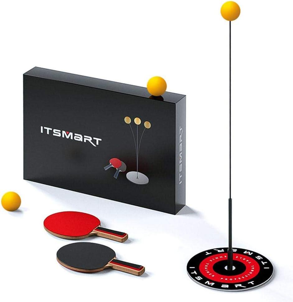 per Entrenadores de Ping Pong Entrenadores de Tenis de Mesa con 2 Palas 3 Pelotas y Base Metal Prevención de Vuelcos Set de Ping Pong para Niños Juguetes de Entrenamiento Infantiles