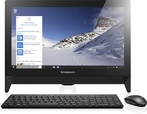 Lenovo C20-00 49,3 cm (19,4 Zoll Full HD) All-in-One Desktop-PC (Intel Celeron N3150 Quad-Core Prozessor, 2,08GHz, 4GB RAM, 500GB HDD, Intel HD Grafik, Windows 10 Home) schwarz