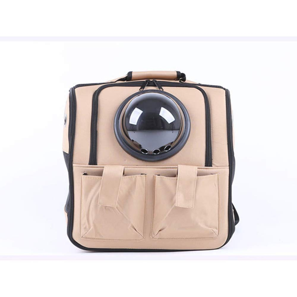 Beige YMJJ Dog Training Bag, Dog Backpack Pet Space Backpack Out Portable Pet bag Breathable Cat Bag Dog Backpack,Beige
