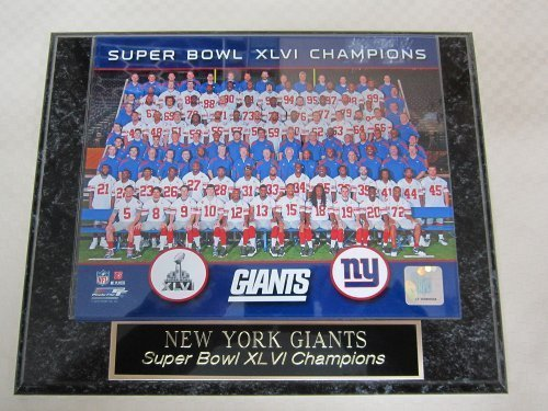 (New York Giants Super Bowl XLVI Champions Engraved Collector Plaque w/8x10 Team Photo)
