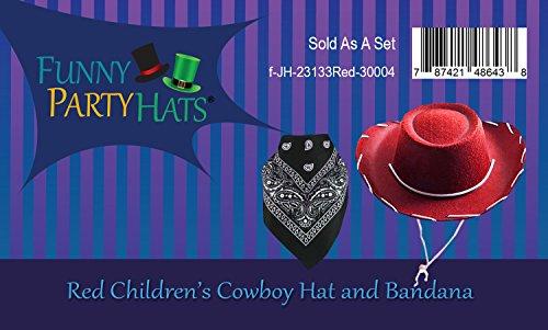 397ac7eb Costume Hat - Cowboy Hat - Cowboy Costume - Cowgirl Hats w/Paisley Bandana  by