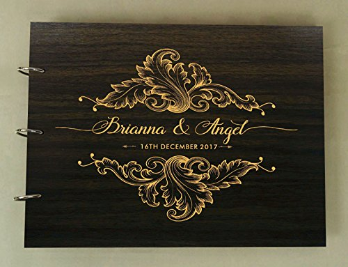 guest book wood - 4