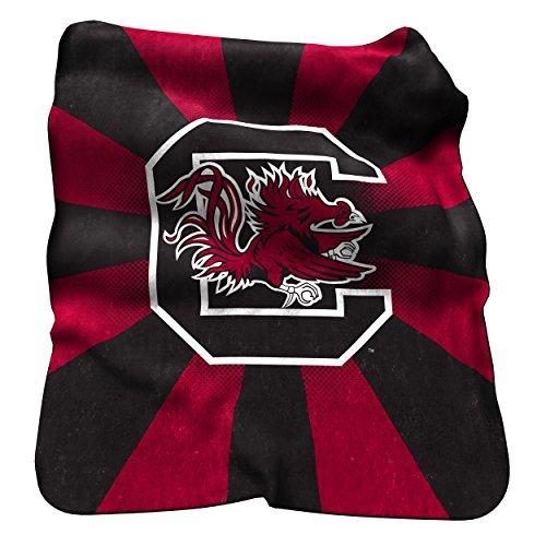 Logo Brands NCAA South Carolina Fighting Gamecocks Raschel Throw Blanket
