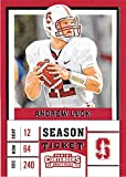 Andrew Luck football card (Stanford Cardinals NCAA College) 2017 Contenders Draft Picks Season Ticket #7