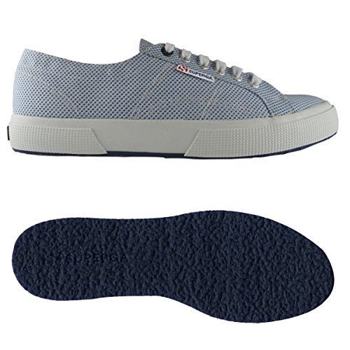 fabricshirtu Unisex Superga A Sneaker 2750 adulto Basso Circlesceleste Collo white HYxrHg