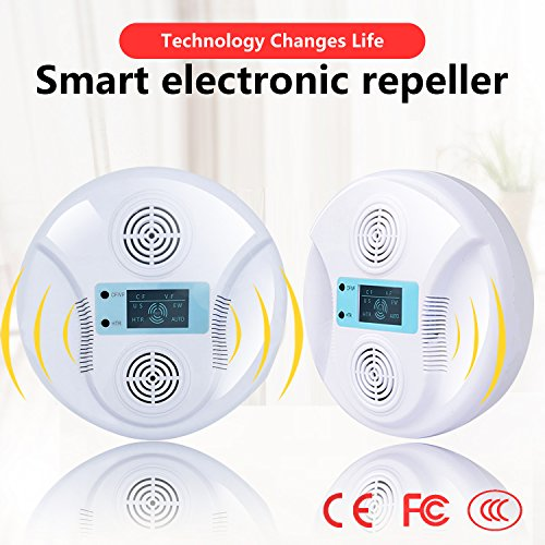 HappyHapi pest repeller ultrasonic pest control-Pressure Wave& Optical Repelling Function Pest...