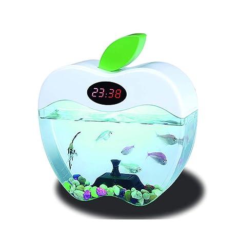 DJLOOKK Plástico Tanque De Peces De Acuario Puerto De Pescado USB Inteligente Mini Apple Interruptor Creativo