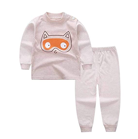 huateng Pijama Recién Nacido para Niño Y Niña Pijama Cálido De Algodón para Niños De Manga