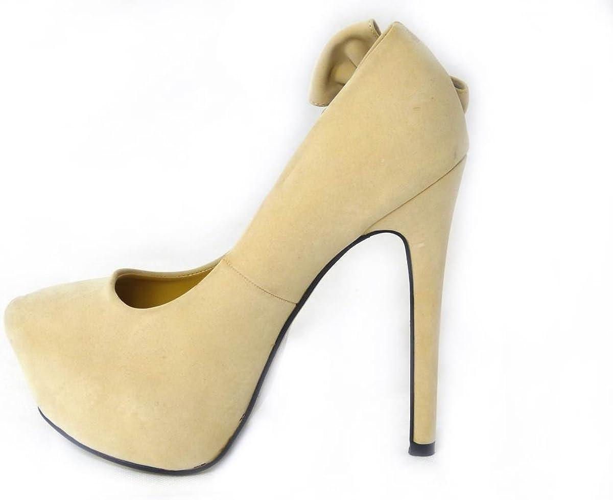SKOS New Womens Ladies 6 Inch Heel Platform Peep Toe Faux Suede Court Shoes Pumps Size 3-8