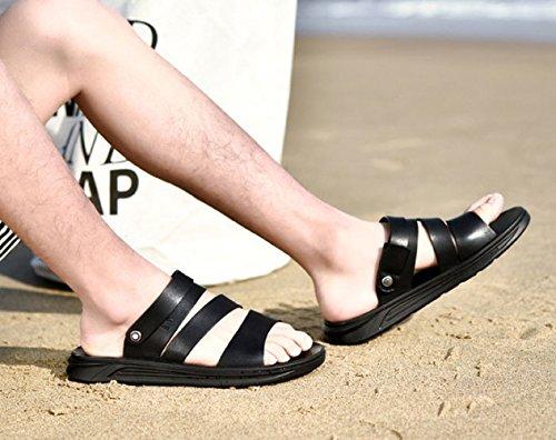 Scarpe Uomo Estivo Infradito Spiaggia Casual Black in LEDLFIE Sandali da da Antiscivolo Uomo da wzPCn5q8