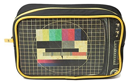 Plan B Mens Wash Bag Toiletry Cosmetics Travel Bathroom Bag Retro Vintage TV Test Card