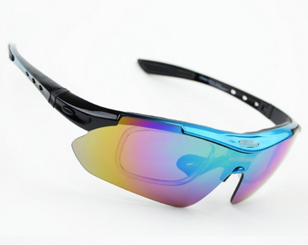 DZW Bike Ride Polarized Gläser Bike Goggles Myopia Set Angelgläser , Blau