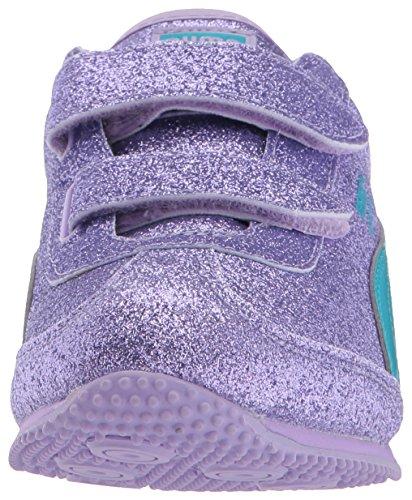 PUMA Girls Whirlwind Glitz V Kids Sneaker, Purple Rose-Blue Atoll, 6 M US Toddler