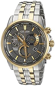 Citizen Eco-Drive Men's 'Perpetual Calendar' Quartz Stainless Steel Casual Watch, Color: Two-Toned (Model: BL8144-54H)