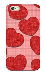Honeyhoney New Arrival BMGjm0oXyST Premium Iphone 6 Case(fabric Hearts )