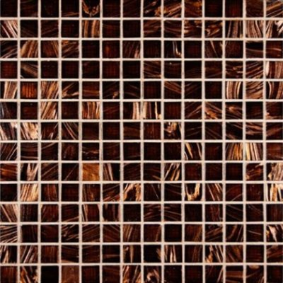 MS International 3/4 in. x 3/4 in. Brown Iridescent Glass Mosaic Floor & Wall Tile - Box of 5 sqf