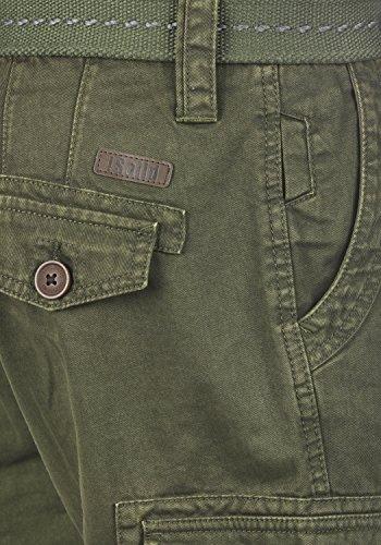 100 Ivy Bermuda Pantacourt Coton Valongo solid Régulaire 3797 Cargo Homme Ceinture Short Green Coupe PUq0w