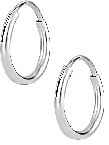 Amazoncom Hypoallergenic Sterling Silver 10mm 38 Inch Tiny Hoop