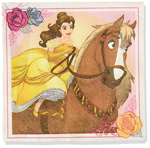 (Beverage Napkins| Disney© Beauty And The Beast Collection | Party Accessory)