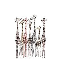 Journal: Giraffes 6x9 - DOT JOURNAL - Journal with dot grid paper - dotted pages with light grey dots
